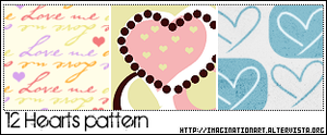 Hearts Pattern by pinkshadoww