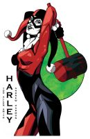 Harley Quinn in Color by NORVANDELL