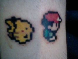 Pokemon Yellow Tattoo by azariaspice