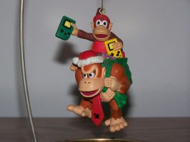 Donkey and Diddy ornament by SuperTailsHero