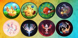 POKEPIN BADGES by eru-star
