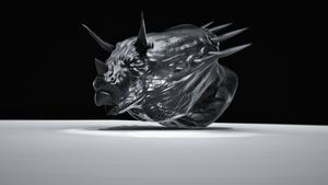 Triceratops head 3d  Model (2) by Gman20999
