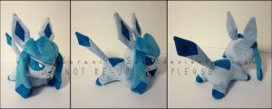 Plushie: Sleepy Glaceon 2 by Serenity-Sama