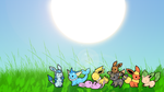 Eevee Evolutions Chibi by XBlader19