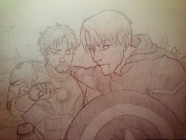 Cap and Iron Man by ClaustrofobiART