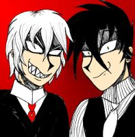 Asmodeus and Chaos (Request) by geekgirl8