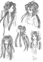 Mokutou Hairstyles by analmouse