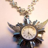 Time Flies REAL CLOCK Pendant by SteamSociety