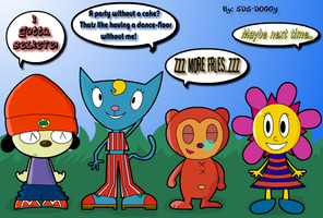 Parappa, Katy, PJ, Sunny by SDS-Doggy