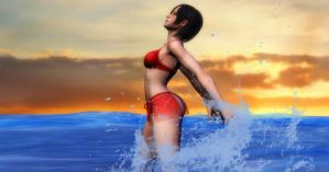 Sexy Ocean Babe: Ada Wong by EpitaphOfTwilightCe