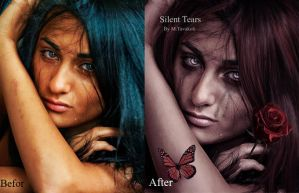 Silent Tears(Befor/After) by DigitalDreams-Art