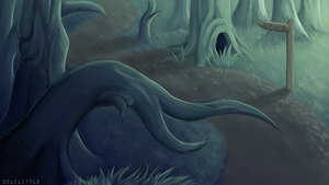 le spoopy forest by delilittle