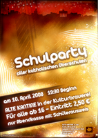School Party Poster by Dick3rl3