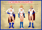 PowerGirl  Ref Sheet by poserfan