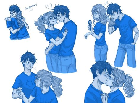 Percabeth fluff doodles :) by Amigo12