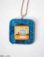 Pastry Chef Mamegoma Resin Pendant by QueenNekoyasha