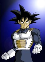 Goku with saiyan armor by kingvegito