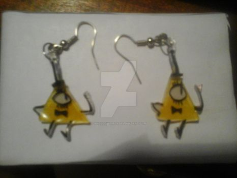 Crafts #02 - Bill Cipher's earrings by Valbru2000V
