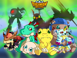 Digimon Masters Friends by SparkusThunderbolt