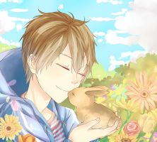 ST Contest: Boy Meets Bunny by kiraruun