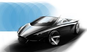 Concept Roadster Car by jkwonman