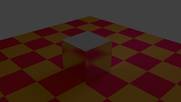 A blurry glass cube by Swartsiva