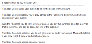 Top 5 reasons not to buy the Xbox One by SomethingIdontknow