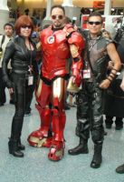 Black Widow, Iron-Man, Hawkeye at AX 2013 by trivto