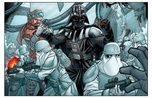 Attack on Hoth color commission by bennyfuentes