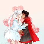 White Rose Kiss by Sogequeen2550