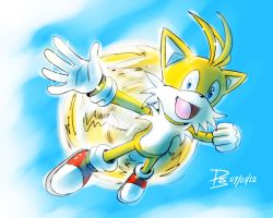 One Hour Sonic 002 - Tails Flying by ElsonWong