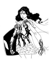 Wonder Woman CCC Print BW by Hodges-Art