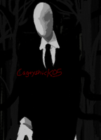 Slenderman quickie doodle by Cageyshick05