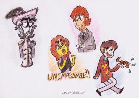 Beatles: 4 different Art styles by KabouterPollewopje