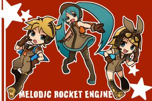 VOCALOID:Melodic Rocket Engine by quackmire