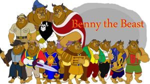 Benny the Beast Collage by LionheartCaptain