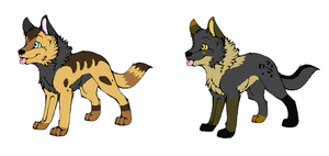 2 pups for DearDairy by LizzysAdopts