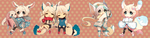 Chibi Commission*:: batch 1 :: by Hinausa