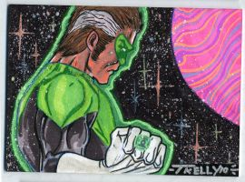 Gl in space 2x3.5 by TomKellyART
