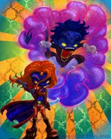 Mystique and Nightcrawler by Arterik