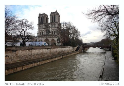 Notre Dame River View by JQ444
