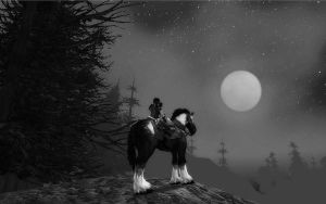 Anul watches the moon by lagaby
