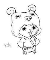 Tony Tony Chopper Line Art 2 by LoochOnTheLoose