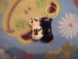 Black and white dog charms by minecraftfox
