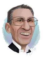 Celebrity Caricature: Leonard Nimoy by Lily-the-Animator