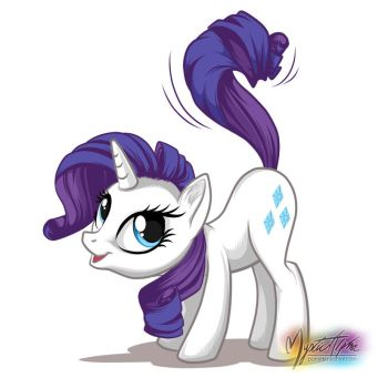 Rarity Whips Tail by mysticalpha