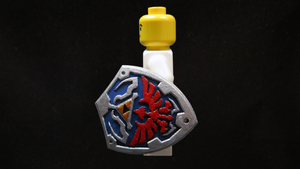 Painted LEGO Hylian Shield 2 by mingles
