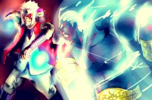Sage Jiraiya vs Raikage by saturnion