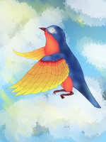 Bluebird of Happiness by LisicaRawr