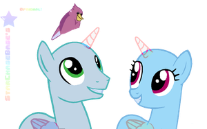 .:Love Birds with a bird XD(Base#12):. by StarChaseSketches